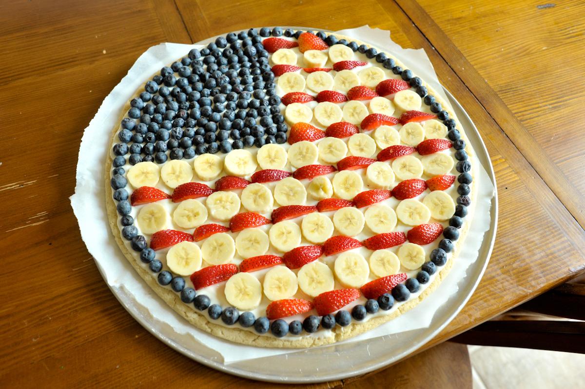 Flag fruit pizza!