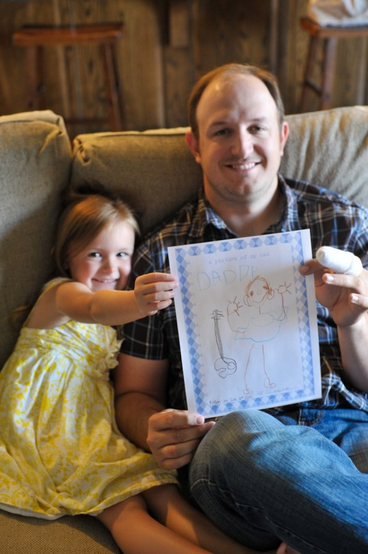 Her drawing of her Daddy!