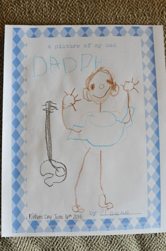 She is such a great artist! I love that she included a guitar!