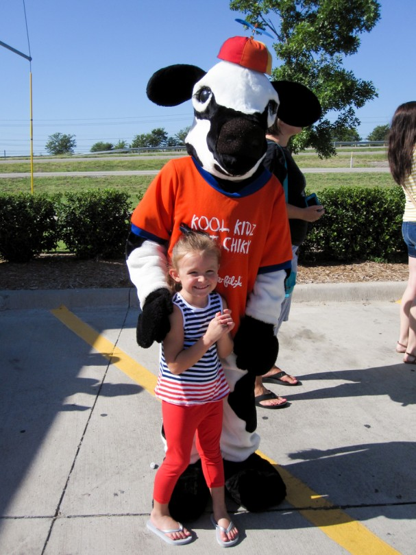 Brooke and the cow!