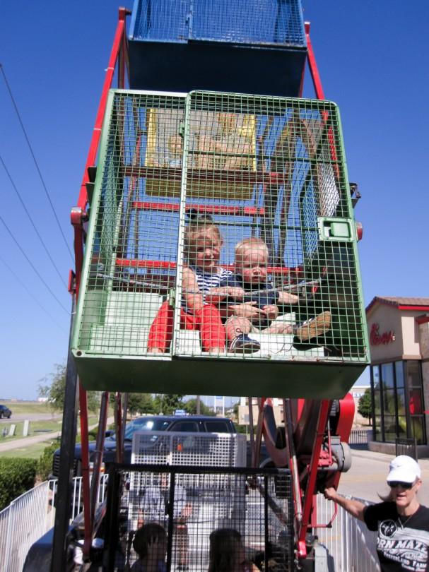 Brooke and Luke riding the Ferris Wheel!