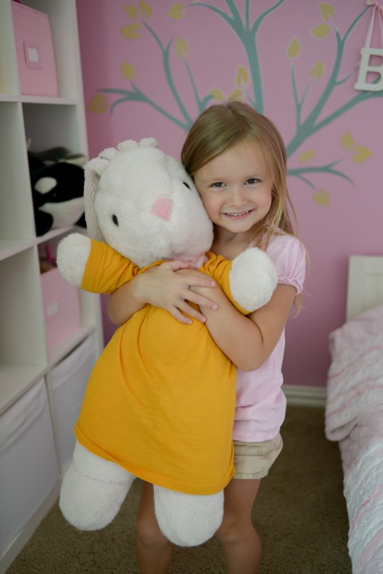 Brooke and Bunny. This is the bunny my dad got me when I was a little girl!