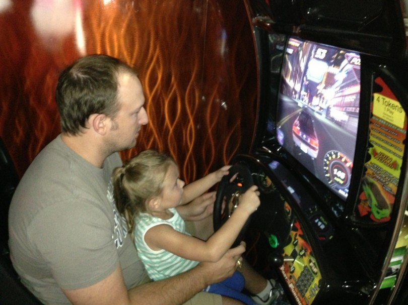 Playing video games with Daddy!