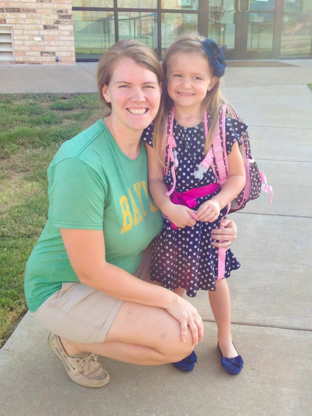 Mommy and Brooke on the first day of Pre K Mothers Day out!