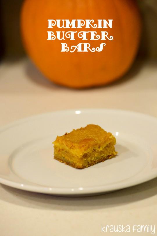 Pumpkin Butter Bars