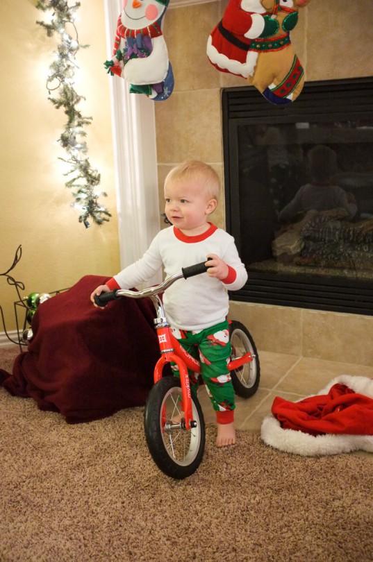 Luke and his balance bike!