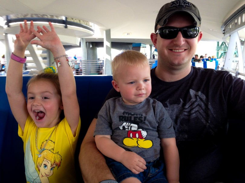 Having fun on the people mover!