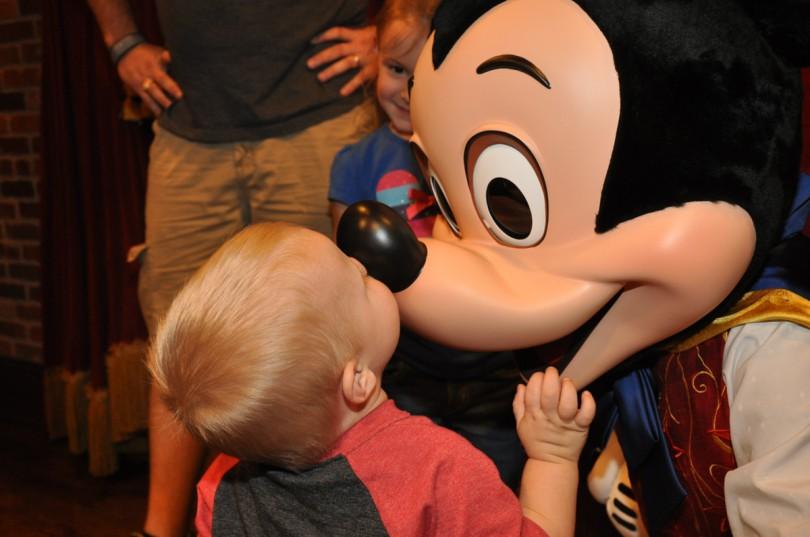 Luke giving Mickey a kiss!