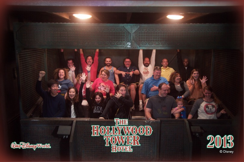 Brooke riding the Tower of Terror for the first time!