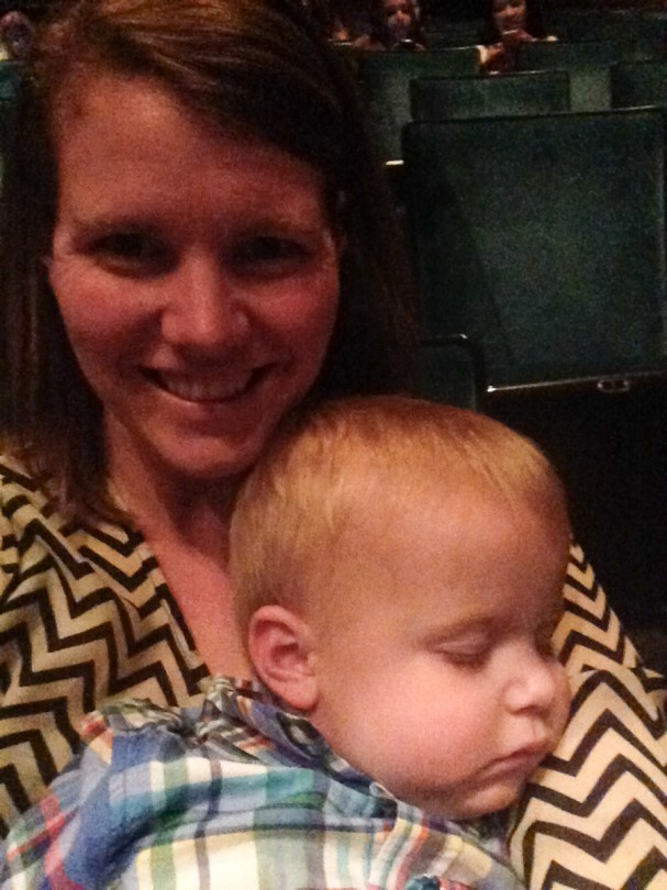 He fell asleep during the play!