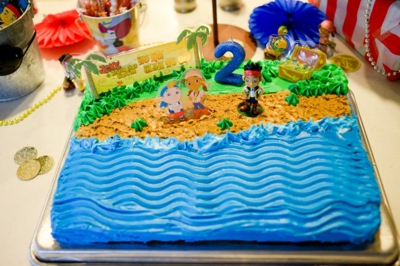 The Jake and The Neverland Pirates Cake I made for my sweet boy!