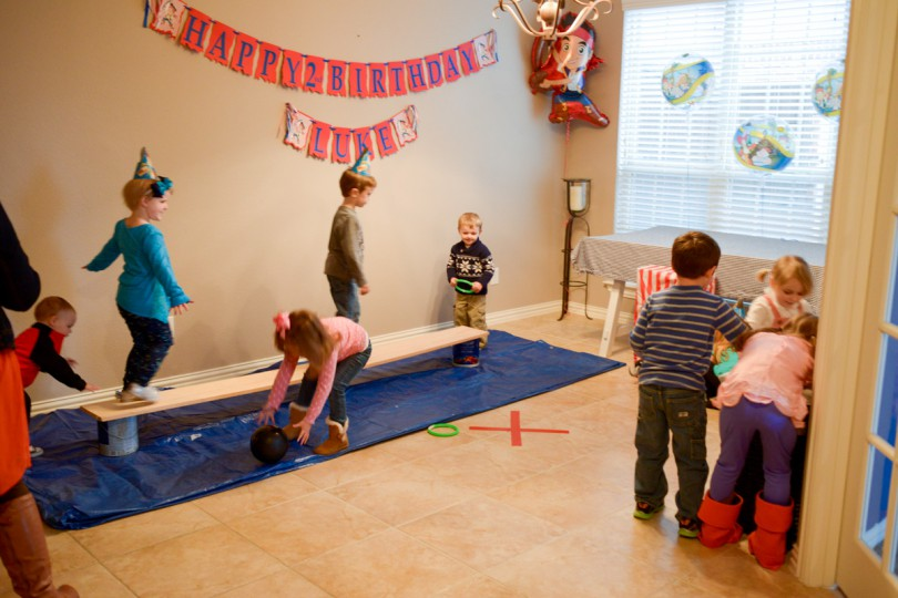 "The kids playing ""Walk the Plank"", ""Hook's Ring Toss"" and Cannonball Plunge!"