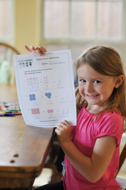 Her Easter math!