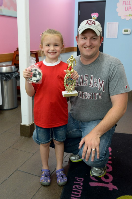 Brooke and her Coach Daddy!