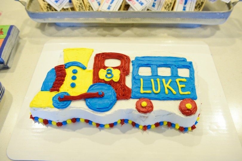 Luke's Train Cake that I made for him!